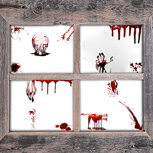 Halloween Skeleton Decal, Vampire Bloody Handprints Decal, Zombie