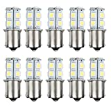 1156 bulb white - AUTOSAVER88 10pcs 1156 Super Bright White LED Bulbs for Replacement of Turn Signal Light Car Back up Parking Tail Light BA15S 13-SMD 5050 6500K 12V 1129 1141 1159 1259