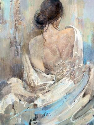 Beautiful woman oil painting and
