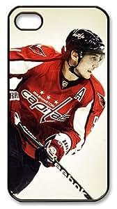 LZHCASE Personalized Protective Case for iPhone 4/4S - NHL Washington Capitals #91 Sergei Fedorov