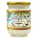 Organic Extra Virgin Coconut Oil, Beauty Sized 6.76 Oz, Unrefined Cold-Pressed for Cooking, Skin, and Hair
