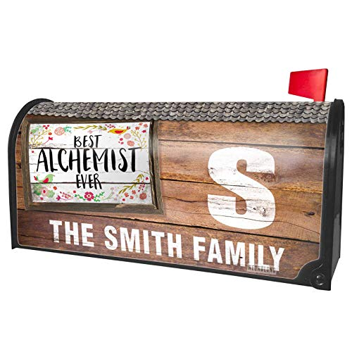 NEONBLOND Custom Mailbox Cover Happy Floral Border Alchemist -