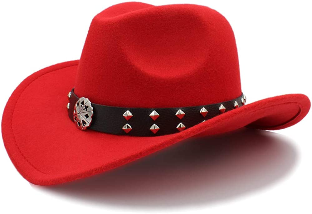 MUMUWU Mens Straw Western Cowboy Hat with Punk Leather Band Dad Sombrero Hombre Great