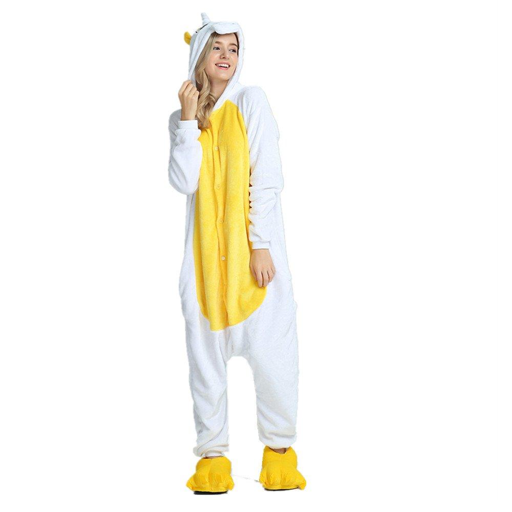 Rainbow Fox Adultos Unicornio pijama con alas Cosplay disfraz Animal Ropa de dormir Franela Novedad ropa: Amazon.es: Ropa y accesorios