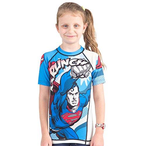- Fusion Superman Krunch Kids Rash Guard Compression Shirt- Short Sleeve (S)
