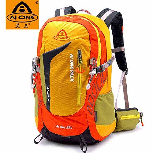 Montañismo bolso al aire libre hombres y mujeres hombro mochila senderismo paquete bolsas de montañismo 38L, verde