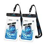 Mpow Waterproof Case,Mpow Waterproof Cell Phone Case for Kayaking, Snorkeling,Canoeing,Rowing Universal Waterproof Pouch for iPhone 7/7 Plus/6s / Plus / 6 / 5s / 5 / 5c, Samsung Galaxy S7 / S6 edge / S5 / Note 4 / 3 / 2, (2 Pack, Transparent)