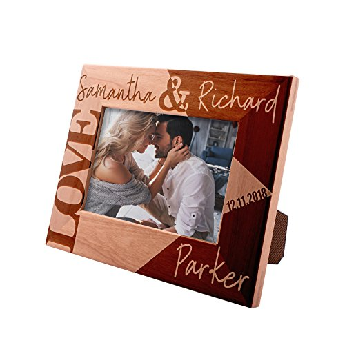 Picture Frame Labs Small - Personalized Picture Frames 4x6, 5x7, 8x10 - Love Personalized Romantic, Wedding Photo Frame, Engagement, Valentine's Day, Wedding Gifts for The Couple