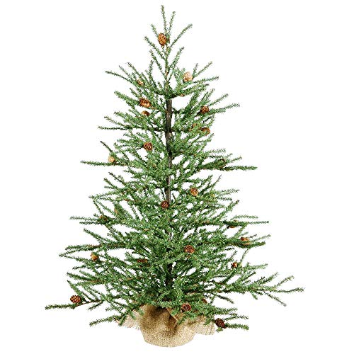 """Artificial Christmas Tree. This Tabletop Fake Xmas Pine Tree Looks Real, Natural. Great for Indoor, Outdoor, Home, Patio, Gazebo, Backyard, Front Porch, Deck Holiday Season Party Decor (42"""")"""