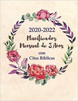 2020-2022 Planificador Mensual de 3 Años con Citas Bíblicas ...