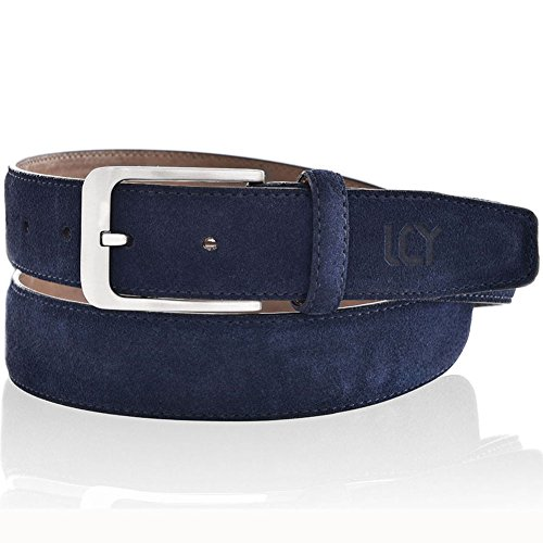 men-dress-belt-suede-leather-1-3-8-inch-wide-blue-36
