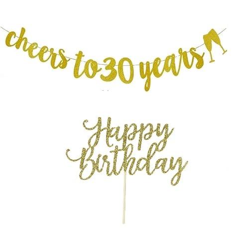 Pancarta de 30 cumpleaños, decoraciones de 30 cumpleaños con ...