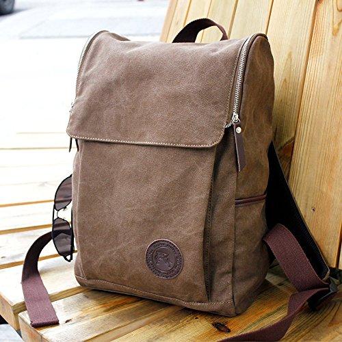 Men's Vintage Canvas backpack Rucksack Shoulder travel Camping Bag Satchel by WIND GOAL