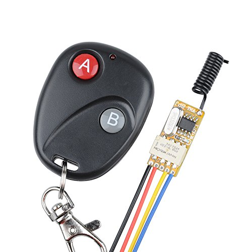 Mini Relay Wireless Switch 12V 433Mhz Remote Control Power LED Lamp Controller Micro Receiver with Transmitter System The Voltage It Uses is DC3.7V 5V 6V 7V 9V 12V