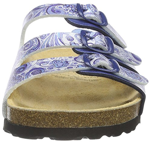 Lico Bioline Flower, Women's Low-Top Slippers Blue (Blau/Weiss Blau/Weiss)