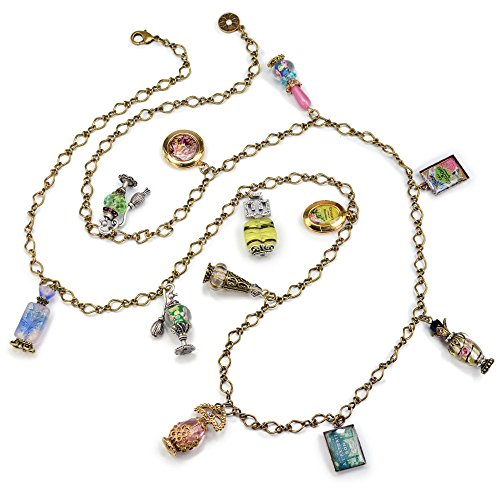 Sweet Romance Vintage Perfume Bottle Charm Necklace
