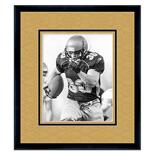 (Sports Frames Wake Forest University Black Wood Frame with Demon Deacons Triple Mat Colors - Made to Display 8