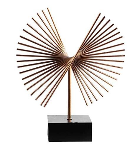 QIAOQ Desktop Ornaments Fan Metal Flying Eagle Craft Gifts Modern Home ()