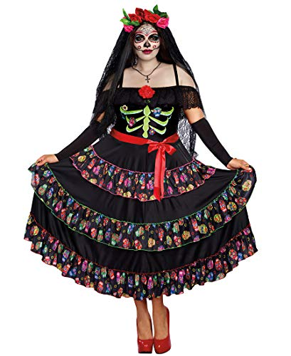 Dreamgirl Women's Lady of The Dead Plus Size, Multi 3X ()