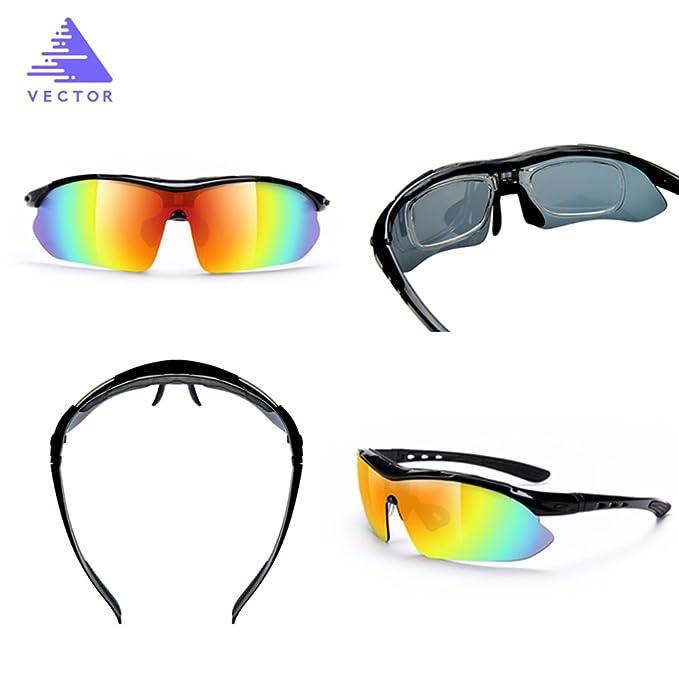 VECTOR - Gafas de sol - para hombre negro negro: Amazon.es ...