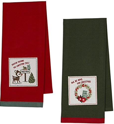 Embroidered Christmas Towel Rockin Around product image