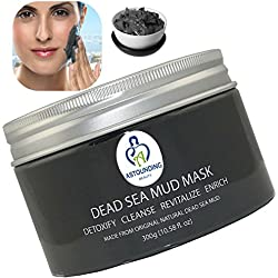 NOT JUST ANOTHER Dead Sea Mud Mask + Essential Oils-10.58oz-100% Natural Facial Body Skin Treatment|Detox Cleanse Exfoliate Face|Reduce Acne Pores Wrinkles Scars|Blackhead Remover Extractor