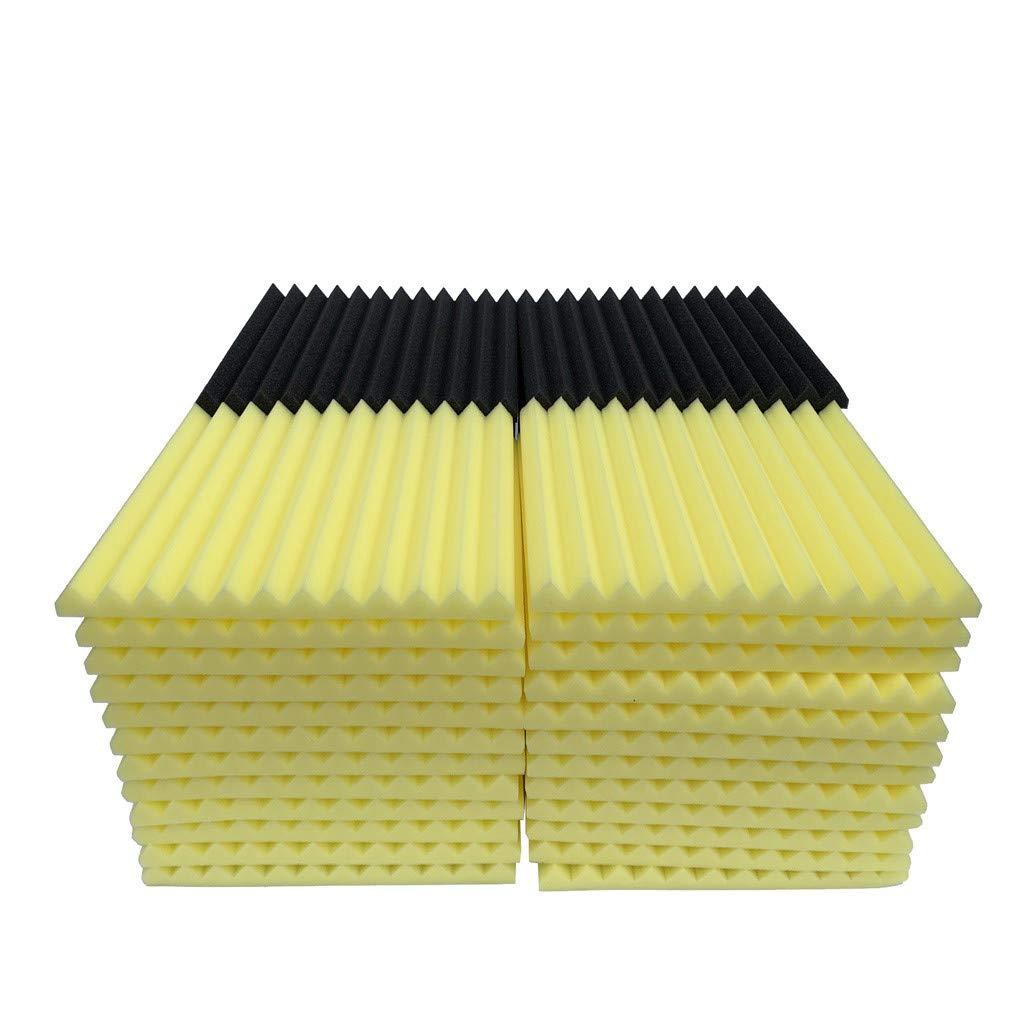 48Pcs Acoustic Foam Panel Sound Stop Absorption Sponge Studio KTV Soundproof (B)