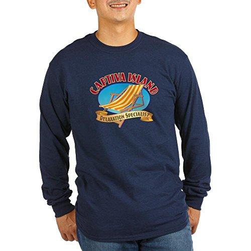 CafePress Captiva Island Relax - Long Sleeve Dark T-Shirt Unisex Cotton Long Sleeve T-Shirt Navy