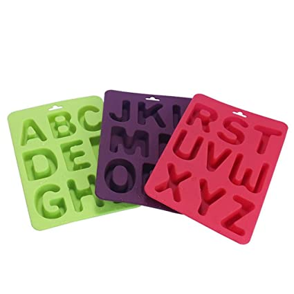 Gessppo Molde de pastel 3Pcs/Set Of Letters Silicone Handmade Cake Decoration DIY Mold DIY