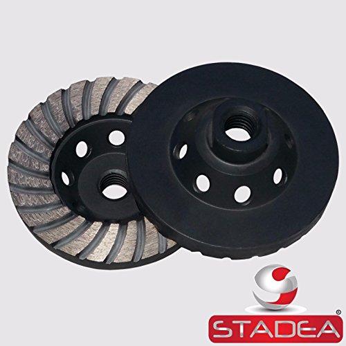 Cup Turbo Wheel 4 - Stadea CWD105N Diamond Cup Grinding Wheel Turbo for Grinder Masonry Stone Concrete Grinding, 4 Inch