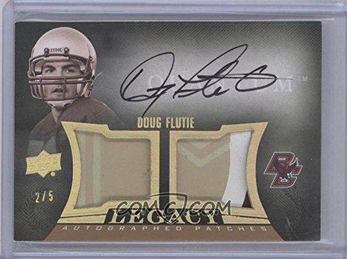 Football NFL 2013 Quantum Legacy Autographed Jerseys Patch #LJ-DF Doug Flutie MEM Auto /5 by Quantum