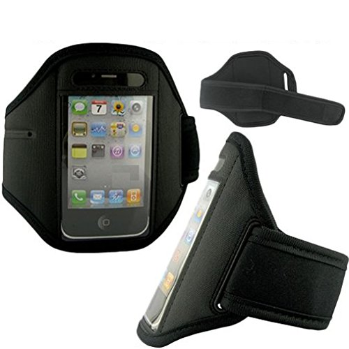 Armband Sports Gym Workout Cover Case Compatible with iPod Touch 5 4th Gen 3rd Gen 2nd Gen 1st Gen, iPhone 4S 4 3GS 3G 2G - BlackBerry Bold 9790 - Casio G-Zone Brigade C741