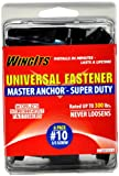 WingIts RC-MAWSD35-6 Master Anchor Super Duty for Drywall, 10/32-Inch Stainless Steel Screw, 6-Pack