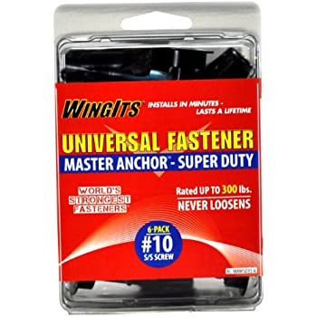 WingIts MAWSD35B24 Master Anchor Super Duty for Drywall 10//32-Inch Stainless Steel Screw Bulk Pack 24-Pack