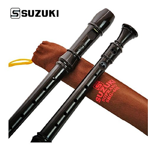 Pink Lizard Suzuki Musical Instrument SRG-405 German 8 holes Soprano Recorder Pink Lizard Products FBA_SKUPLP958574
