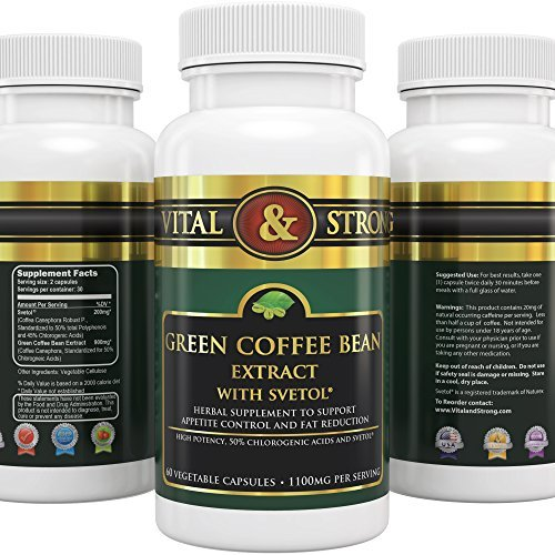 Vital & Strong Green Coffee Bean Extract with Svetol 120 Count