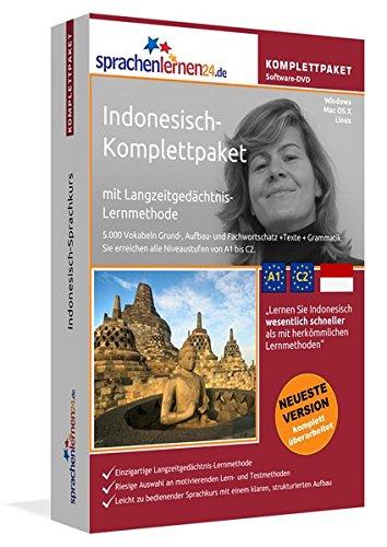 Indonesisch-Komplettpaket: Lernstufen A1 bis C2. Fließend Indonesisch lernen mit der Langzeitgedächtnis-Lernmethode. Sprachkurs-Software auf DVD für Windows/Linux/Mac OS X