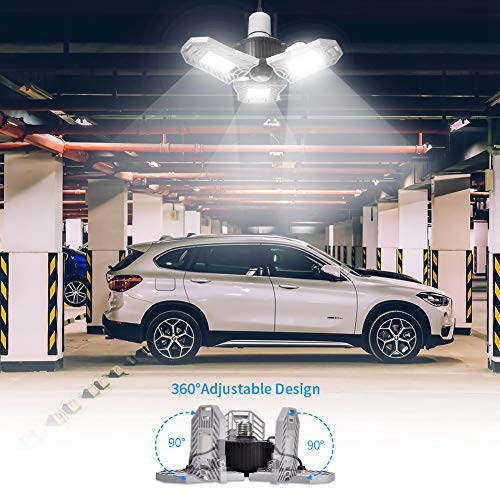 LED Garage Lights, WZTO Deformable LED Garage Ceiling