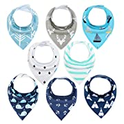 Baby Bandana Drool Bibs 8 Pack Gift Set for Boys by Yoofoss (Boys Old Version)
