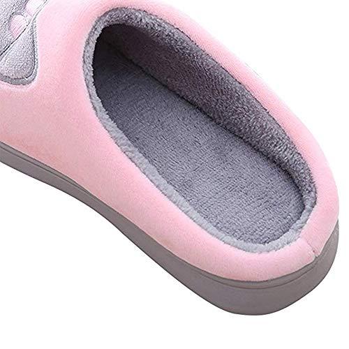 Antiscivolo Gatto Colore Dei Cotone Scarpe Donna Animati Pink 3 Peluche Pantofole 41 Casa Morbido Caldo Rcool Inverno Home Pattini Cartoni 36 wFA7XXq