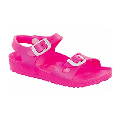 70211ae8ddef Image Unavailable. Image not available for. Color  Birkenstock Girls Rio  EVA Neon Pink Sandal ...