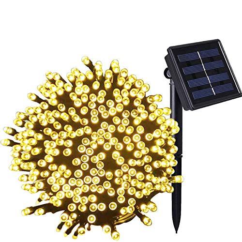 Guirnalda Luces Exterior Solares,Mobiut Cadena de Luz Solar 27 M/88ft 250 LED Luz Solar de Exterior Resistente Al Agua…