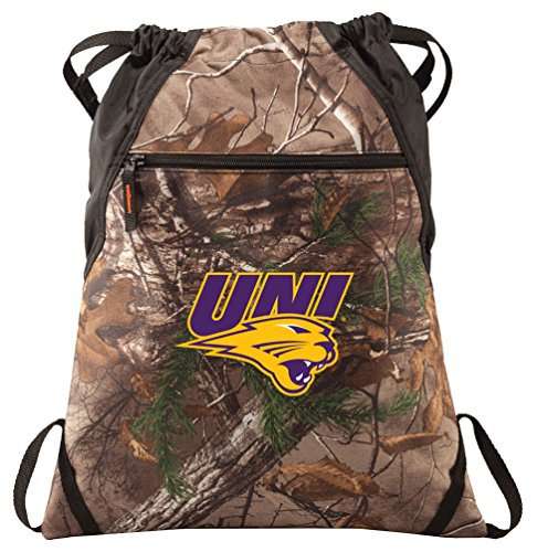 Broad Bay University of Northern Iowa Cinch Pack REALTREE Camo UNI Panthers Backpack by Broad Bay