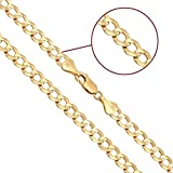 14K Solid Yellow Gold Cuban 6mm Chain 20'', 22'', 24'', 26'', 28'', 30'' (22)