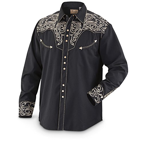 scully-mens-embroidered-scroll-western-shirt-black-large