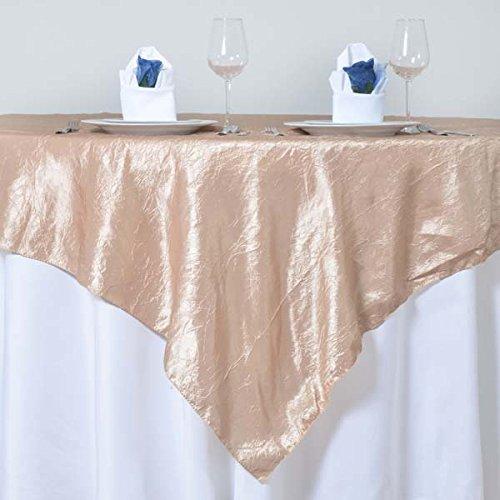 tableclothsfactoryシャンパンタフタCrinkleテーブルオーバーレイ72
