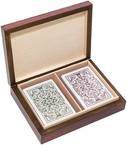Bello Games New York, Inc. The Knight Card Case & Vincent 100% Plastic Narrow Playing Cards by KEM