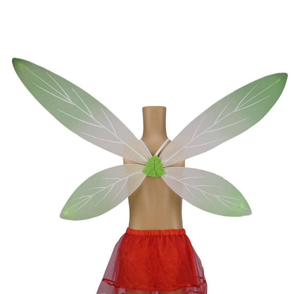 MagiDeal Enfant Fille Ailes de F/ée D/égrad/é en Tissu Accessoire Costume Pixie Ange F/ée pour Anniversaire Carnaval Vert