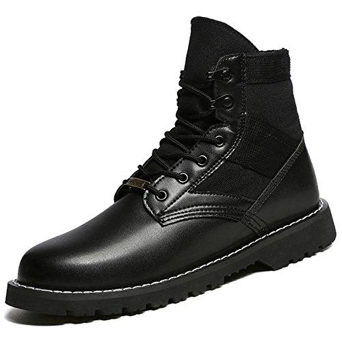 HSXZ Zapatos de mujer moda otoño invierno PU Confort botas botas Botas de puntera redonda Mid-Calf for casual negro Black