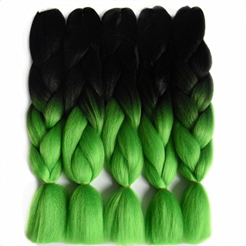 Price comparison product image Braiding Hair 24 Inch 100G Synthetic Jumbo Braids Gray Purple Blue Blonde Brown Black Crochet Hair Extensions T1B/Grey 24inches